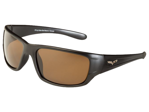 Matte Black C6 Corvette Sunglasses - Brown Tint