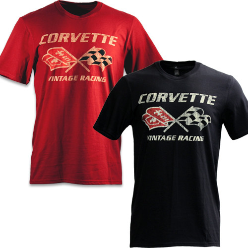 C3 Corvette Vintage Racing Black T-Shirt