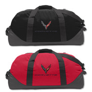 C8 Next Gen Corvette Black or Red Duffle Bag