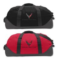 C8 Next Gen Corvette Black or Red Duffle Bag