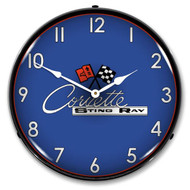 C2 Corvette Sting Ray LED Backlit Clock