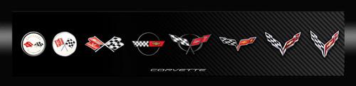 Corvette Generations Black to Carbon Framed Canvas Picture