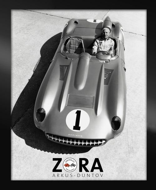 Zora C1 Corvette Race Car Framed Canvas Picture