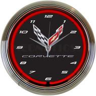 C8 Corvette Neon Clock