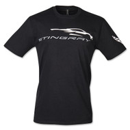 C8 Corvette Stingray Gesture Black T-Shirt