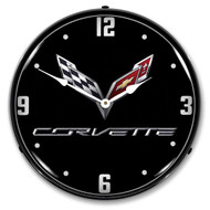 C7 Corvette Black Tie LED Backlit Clock