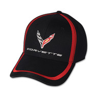 C8 Corvette Black and Red Accent Hat