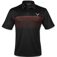 C8 Corvette Stormtech Wavelength Black Polo Shirt