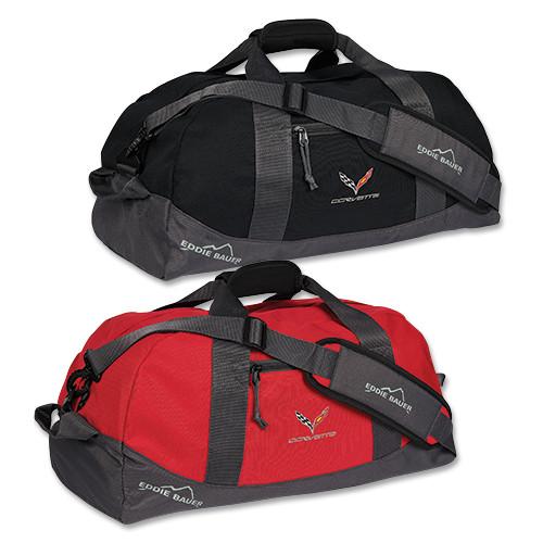 C7 Corvette Black or Red Duffle Bag
