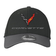 C8 Corvette Flex Fit Performance Hat - Black