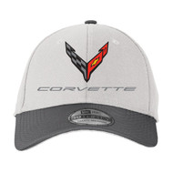 C8 Corvette Flex Fit Performance Hat - Gray