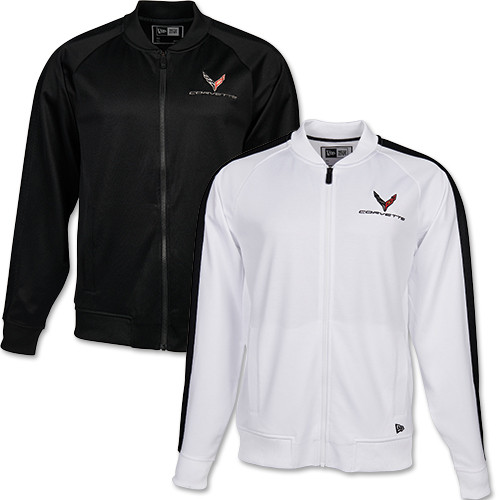 C8 Corvette New Era Track Jacket (black & white)