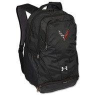 C8 Corvette Black Under Armour Hustle Backpack