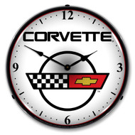 C4 Corvette Emblem LED Backlit Clock