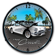 1960 Corvette LED Backlit Clock