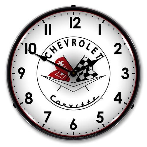 C1 56-57 Corvette Clock