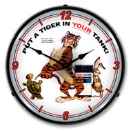 Esso Tiger Backlit Clock