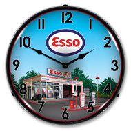 Esso Backlit Clock