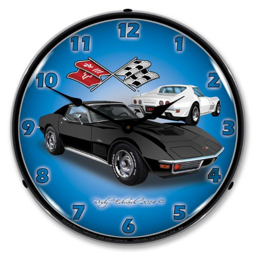 1971 C3 Corvette Clock