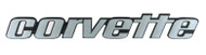 C3 Corvette Script Metal Sign