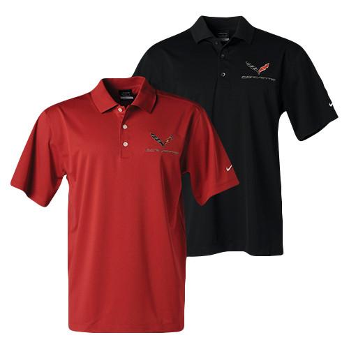 134344721 C7 Corvette Nike Polo Shirts | Corvette Depot