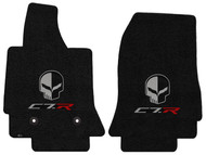 C7.R Corvette Jake Skull Ebony Floor Mats