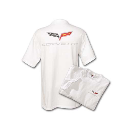 C6 Corvette White T-Shirt