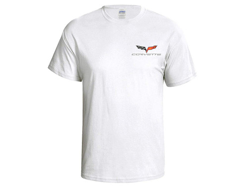 C6 Corvette White T-Shirt (front)