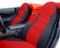 C5 Corvette Red/Black Seat Covers