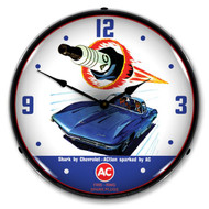 AC Delco Shark Spark Plugs Clock