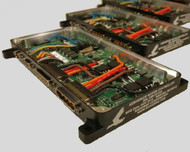 The Aerospace Motor Controller shown here without potting. The variant shown is a 2 channel, 10 amp system.