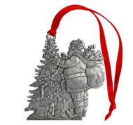 Santa with Tree - Ornament