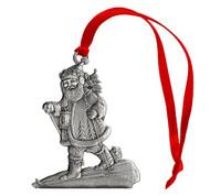 Santa Skiing - Ornament