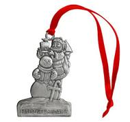 Santa with Snowman - Ornament