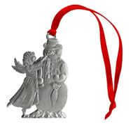 Angel with Snowman - Ornament