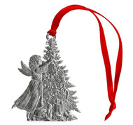 Angel with Christmas Tree - Ornament