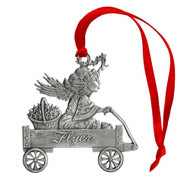 Angel with Stars on Wagon - Ornament