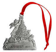 Angel with Woodland Animals - Ornament
