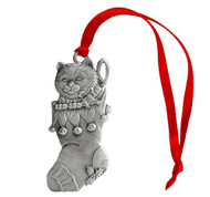 Stocking with Kitten - Ornament