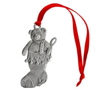 Stocking with Teddy Bear - Ornament