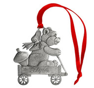 Teddy Bear in Wagon - Ornament
