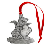 Bear Angel with Heart - Ornament