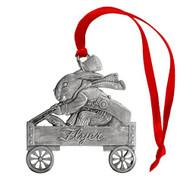 Bunny in Wagon - Ornament