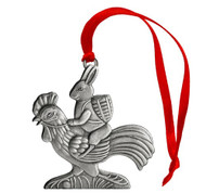 Bunny on Rooster - Ornament