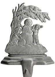 Snowman with Children - Stocking or Basket Holder