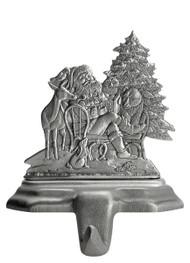 Santa with Woodland Animals - Stocking or Basket Holder