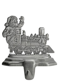 Santa in Train Engine - Stocking or Basket Holder