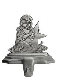 Elf Polishing Star - Stocking or Basket Holder