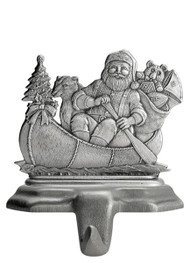 Santa Canoeing - Stocking or Basket Holder