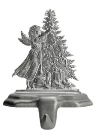 Angel with Christmas Tree - Stocking or Basket Holder